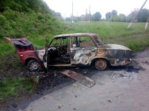 На Черкащині на автошляху загорілося авто (фото)
