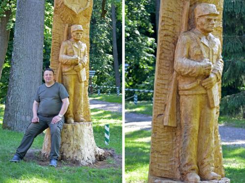 На Черкащині з пошкодженого 150-річного дуба створили скульптуру (фото, відео)