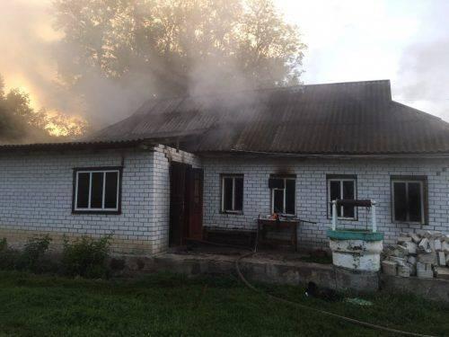 Під час пожежі на Черкащині загинуло дві людини
