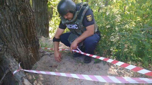 У Черкасах знайшли артилерійський снаряд часів війни (фото)