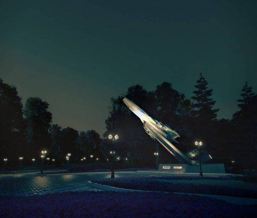 """Черкащанам показали перші ескізи оновленого """"Літака"""" у міському парку (фото)"""