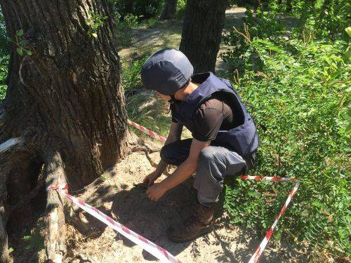У Черкасах знайшли гранату (фото)