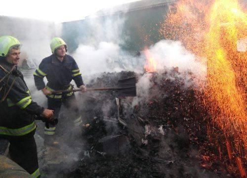 Через самозаймання вугілля на Черкащині горіла вантажівка