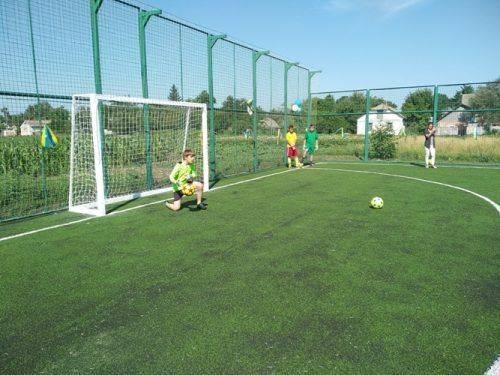 У селі на Черкащині з'явилось сучасне футбольне поле зі штучним покриттям