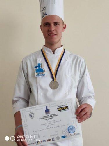 """Молодий кухар із Черкас виборов """"срібло"""" на всеукраїнському чемпіонаті (фото)"""