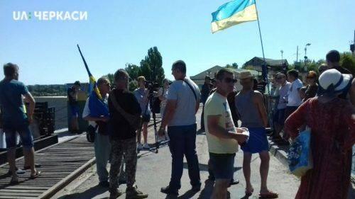 Люди протестували проти забруднення річки Рось на Черкащині (відео)
