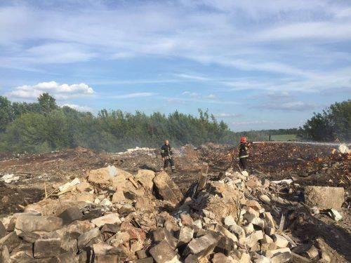 На Черкащині загорілося сміттєзвалище (фото)