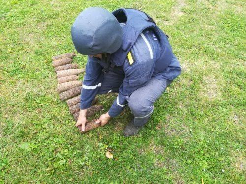 На Черкащині знайшли майже 20 боєприпасів часів війни (фото)