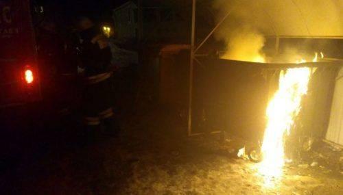У Черкасах уночі горіли контейнери для сміття на двох різних вулицях (фото)