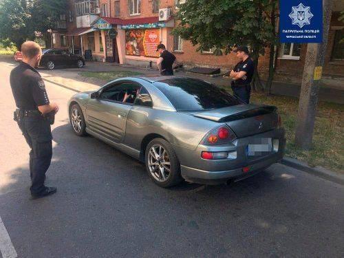 У Черкасах патрульні зупинили авто з водієм, який причетний до крадіжки на заправці