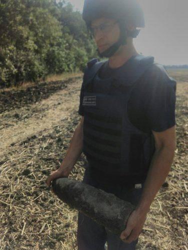 На Черкащині знайшли артилерійський снаряд (фото)