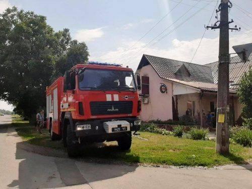 На Черкащині горіло кафе (фото)