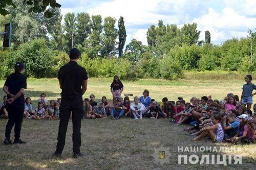 Поліцейські Черкащини розповіли відпочивальникам дитячого табору, як провести літо безпечно (фото)