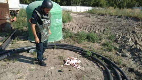 У Черкасах знайшли снаряд часів війни (фото)