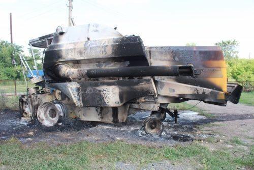 Черкаському фермеру підпалили техніку (фото)