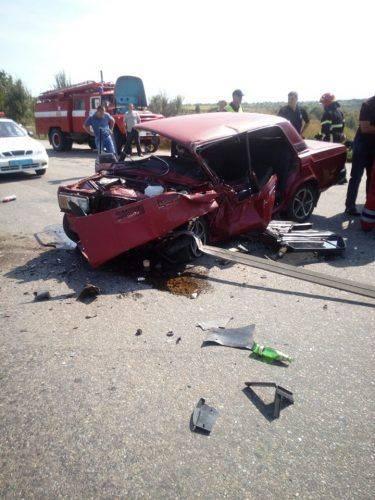 На Черкащині легкових зіштовхнувся з вантажівкою (фото)