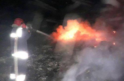 На Черкащині горіло сміттєзвалище