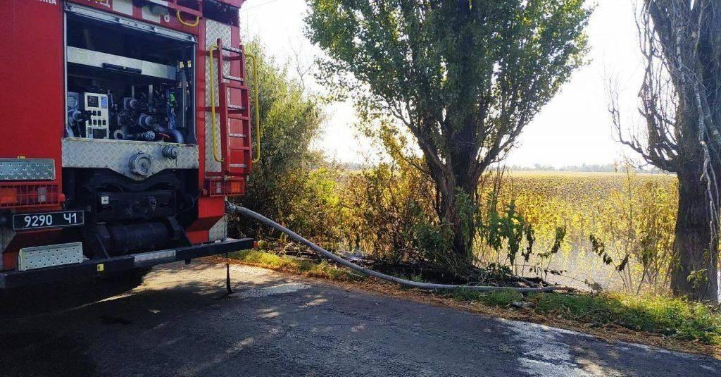 За добу в Черкасах та області чотири рази горіла суха трава (фото)