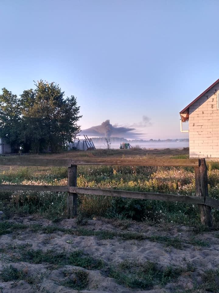 На Черкащині загорівся цех (фото)