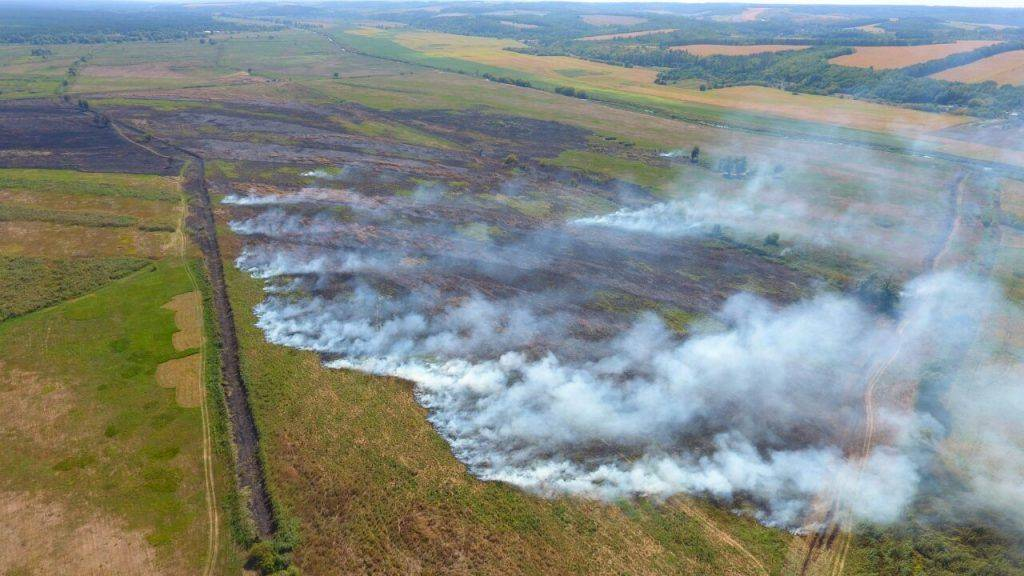 Два дні поспіль рятувальники гасили пожежу на Черкащині (фото)