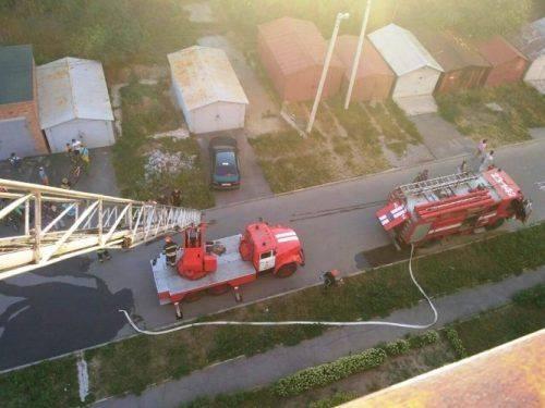 На Черкащині у багатоповерхівці сталася пожежа: 10 осіб евакуйовано