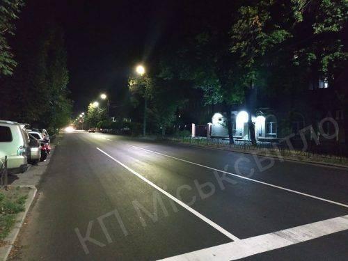 У Черкасах ще одну вулицю облаштували LED-світильниками
