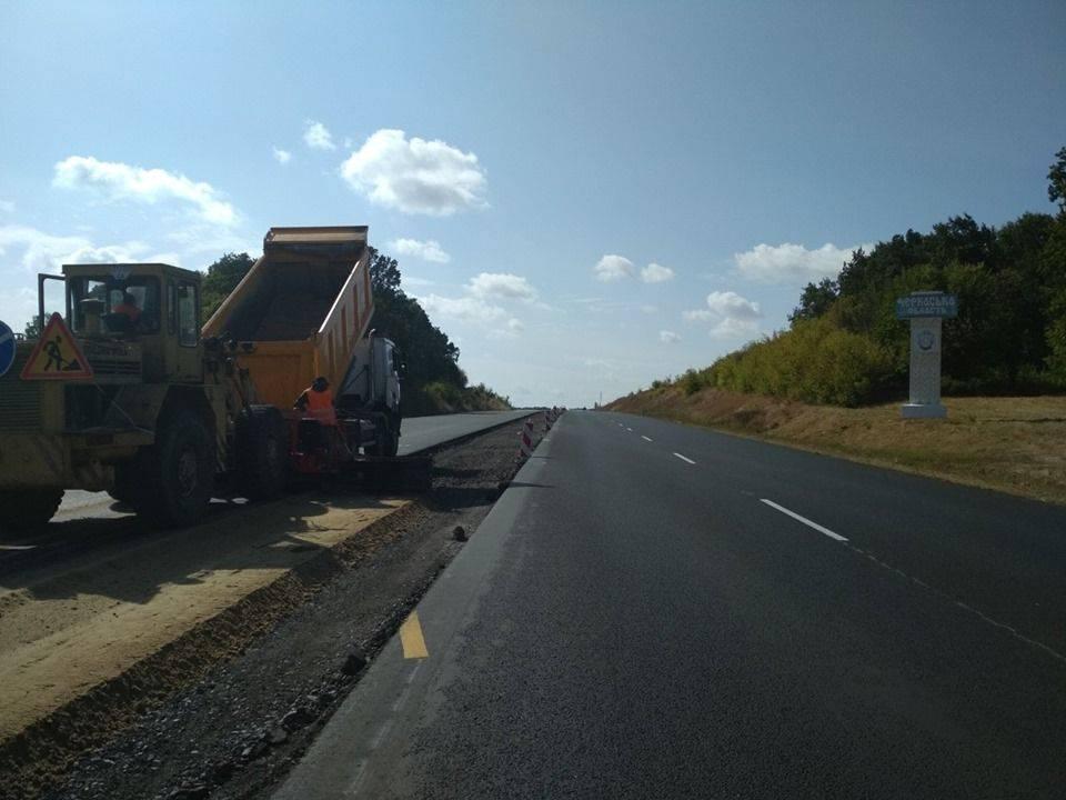 На Черкащині триває ремонт дороги міжнародного значення (фото)