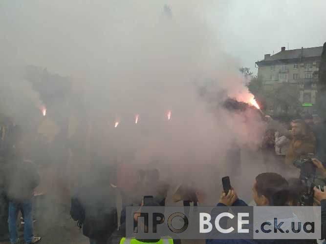 В облраді сталася сутичка між поліцією та мітингувальниками (фото, відео)