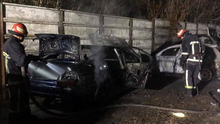 У Смілі горіли три автівки (фото)