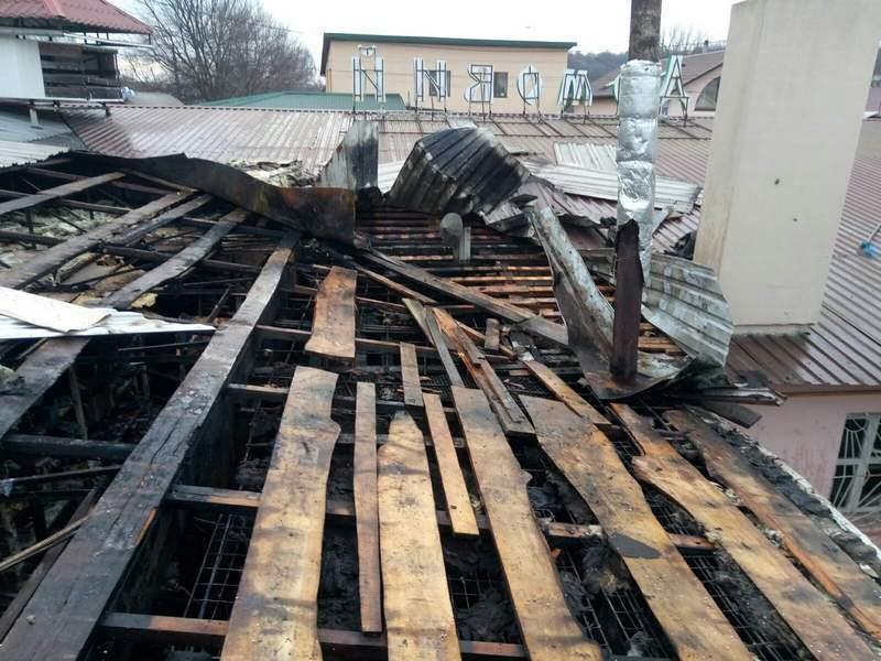 На Черкащині згорів магазин автозапчастин