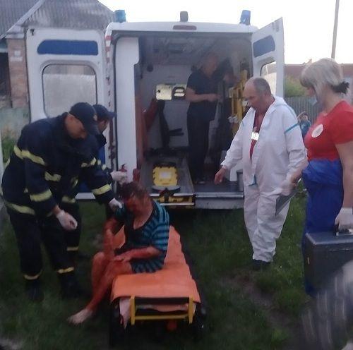На Черкащині врятували жінку, яка впала у погріб із висоти
