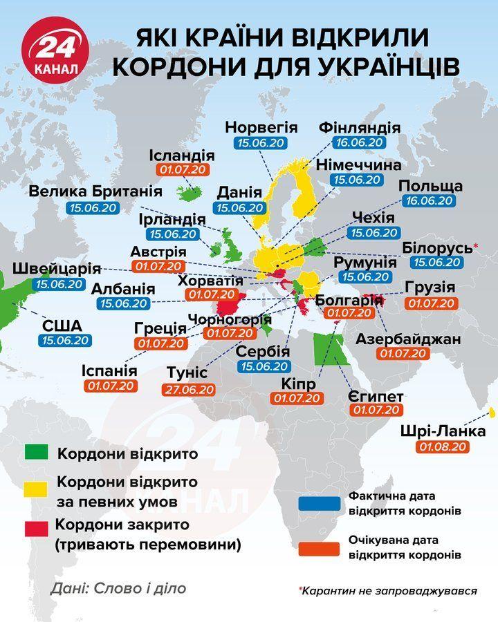 Онлайн-карта для подорожей у часи пандемії: куди зможуть поїхати черкащани