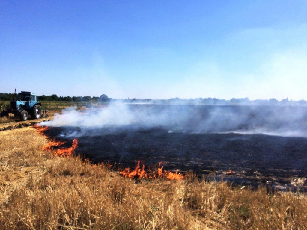 Минулої доби пожежі на відкритих територіях Черкаської області охопили понад 8 гектар
