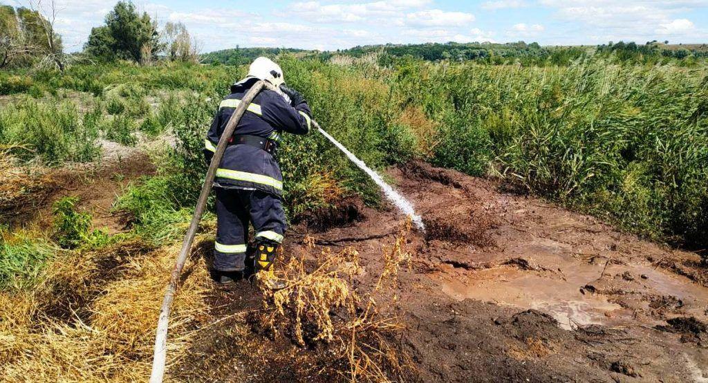На Черкащині аеророзвідка виявила загорання торф'яного грунту (фото)