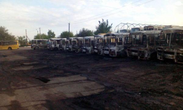 Зловмисникам, які спалили автобусний парк в Золотоноші, загрожує до 12 років ув'язнення