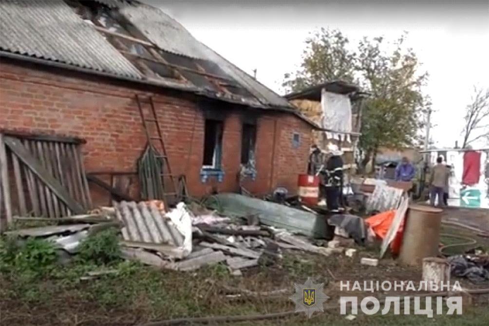 Поліція розслідує обставини загибелі пенсіонерів та дитини під час пожежі на Черкащині