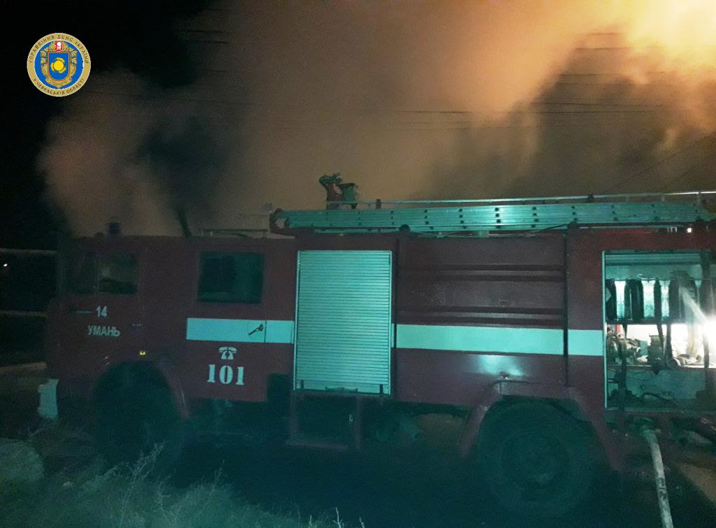 В Умані згорів готель для хасидів, є постраждала (відео)