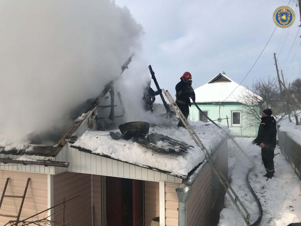 Через замикання мережі на Черкащині горів будинок