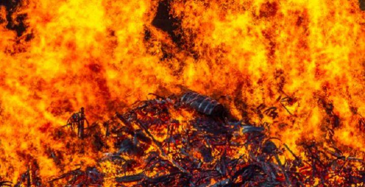 На Уманщині вночі згорів будинок