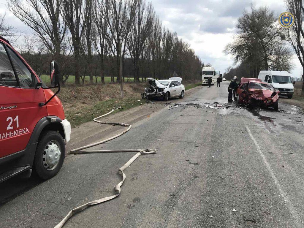 Через ДТП на Черкащині спалахнула автівка