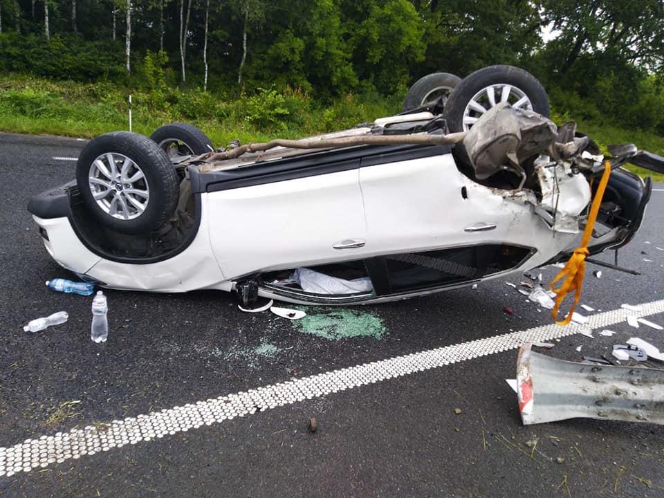 У потрійному ДТП поблизу Черкащини постраждала жінка (ФОТО)
