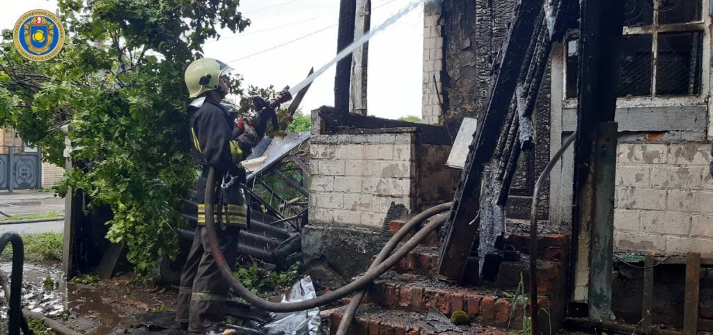 Під час пожежі на Черкащині пенсіонерка отримала опіки