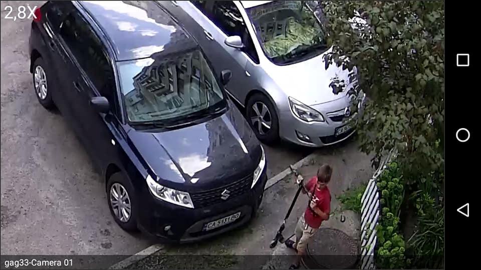 """""""Шкідливий челендж"""": у Черкасах розшукують дитину, яка вкрала ковпачки з авто (ФОТО, ВІДЕО)"""
