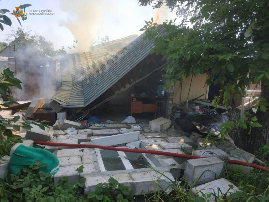 На місці вибуху на Черкащині знайшли тіло чоловіка (ВІДЕО)