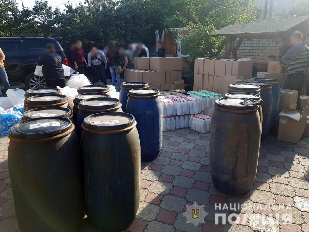 Поліція Черкащини зупинила виробництво підробної побутової хімії
