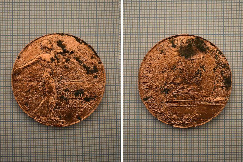 У Черкасах під час розкопок знайшли олімпійську медаль